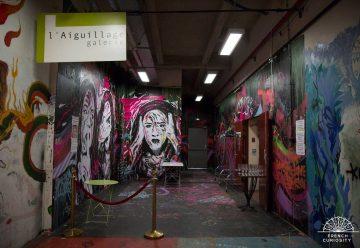 Galerie l'Aiguillage aux Frigos, nouveaux lieux urbain avec l'art pour vecteur et convivialité en partage