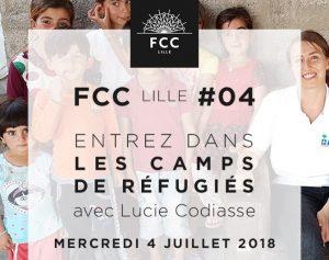 Lucie Codiasse, Le FCC Lille entre dans les camps de réfugiés